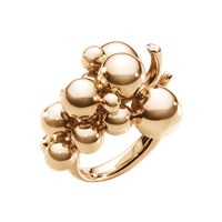 MOONLIGHT GRAPES ring 18 kt rosa guld med brillantslebne diamanter