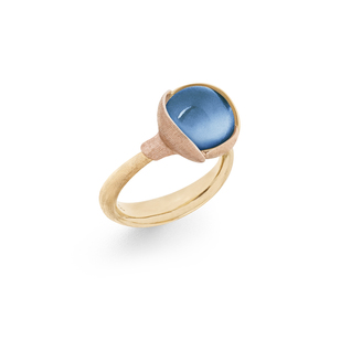 Ring Lotus 2 Swiss blue topaz A2651 407